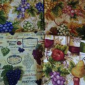 Ткани ручной работы. Ярмарка Мастеров - ручная работа Набор из 4 отрезов ткани для пэчворка и шитья. Handmade.