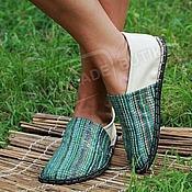 Обувь ручной работы handmade. Livemaster - original item Espadrilles leather Iridescent with milk Unisex. Handmade.
