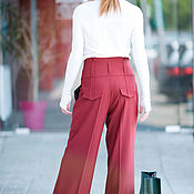 Одежда handmade. Livemaster - original item Stylish, women`s pants made of Trouser fabric - PA0740CW. Handmade.