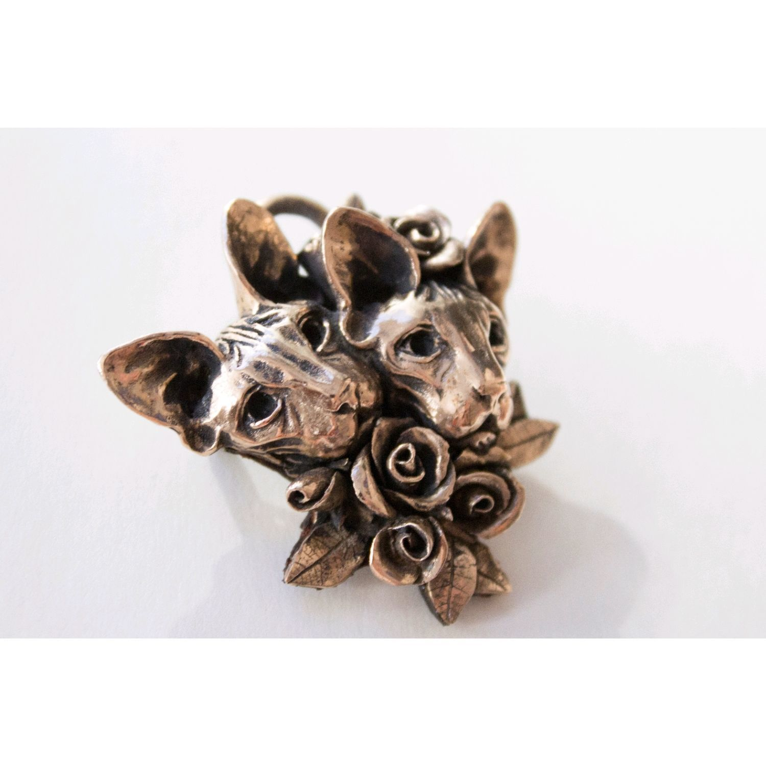 Brooch-pendant in bronze SPHINXES, Pendant, Rostov-on-Don,  Фото №1