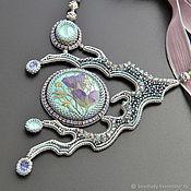 Украшения handmade. Livemaster - original item Summer Blossom necklace with Swarovski crystals and Herbal cab. Handmade.