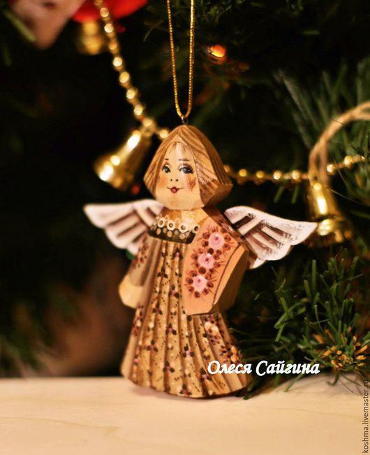 Новый год 2017 ручной работы. Ярмарка Мастеров - ручная работа. Купить Ангел подвеска на елку новогодняя игрушка. Handmade. Ангел