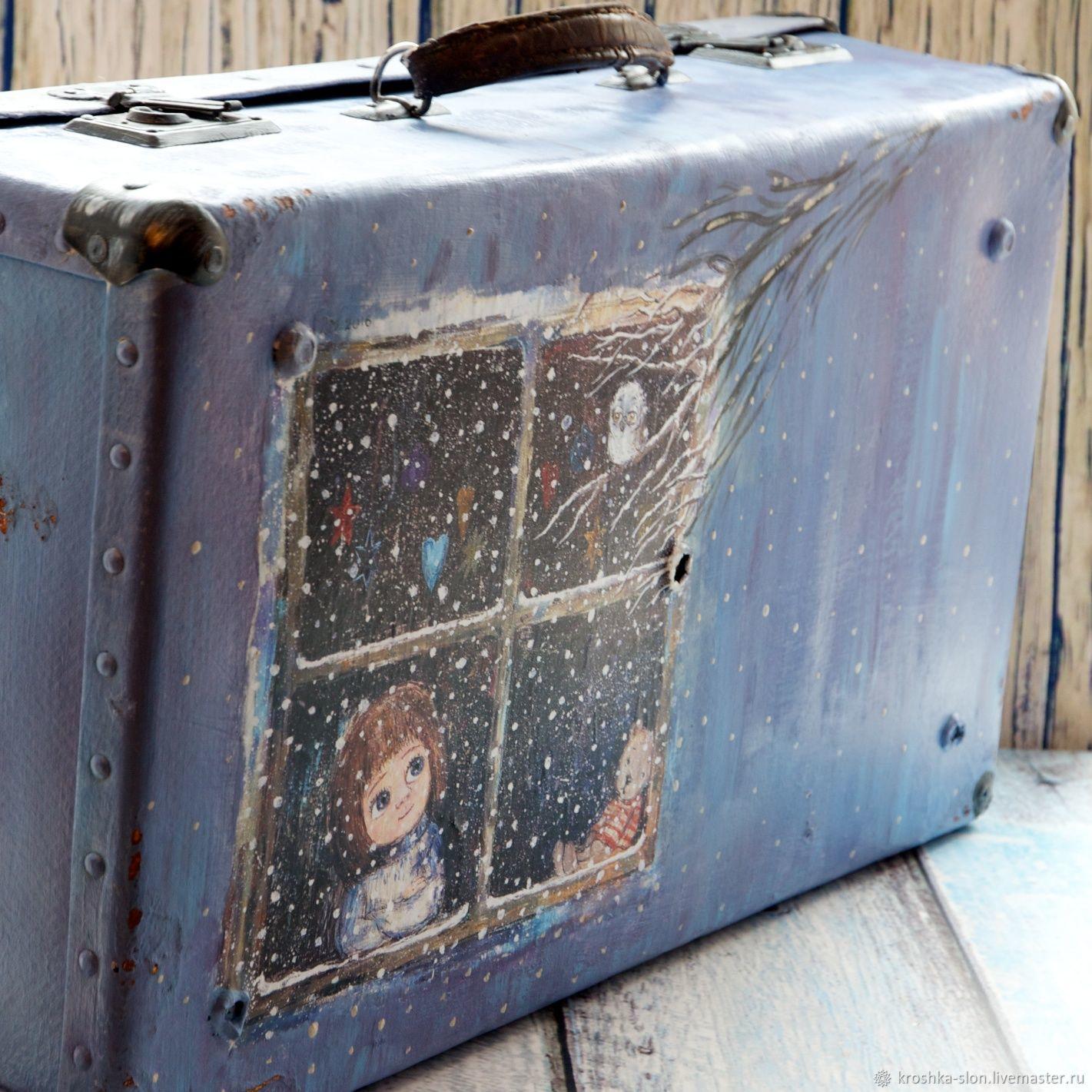 Ярмарка Мастеров · Чемоданы ручной работы. Большой старый чемодан. Татьяна  Косова (tatyanakosova). Ярмарка Мастеров ... 0de65fe07e8