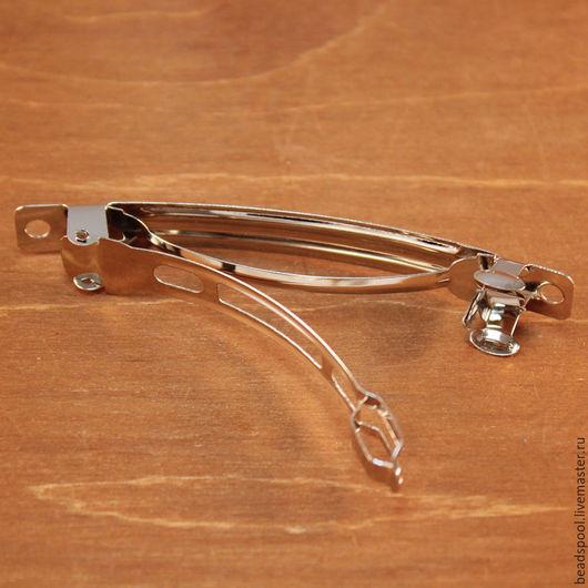Для украшений ручной работы. Ярмарка Мастеров - ручная работа. Купить Французская заколка 77х12 мм. Handmade. Заколка для волос