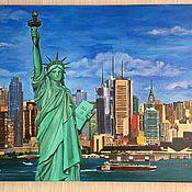 Картины и панно ручной работы. Ярмарка Мастеров - ручная работа Картина Нью -Йорк. Handmade.