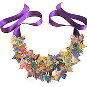 """Украшения ручной работы. Ярмарка Мастеров - ручная работа Колье """"Полет бабочки"""". Handmade."""
