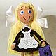 Человечки ручной работы. Ярмарка Мастеров - ручная работа. Купить Кукла Школьница вязаная. Handmade. Школьница, кукла в подарок, девочка