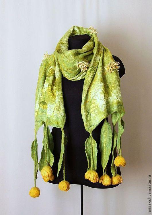 """Шарфы и шарфики ручной работы. Ярмарка Мастеров - ручная работа. Купить Валяный шарф """" Вечная весна"""".. Handmade."""