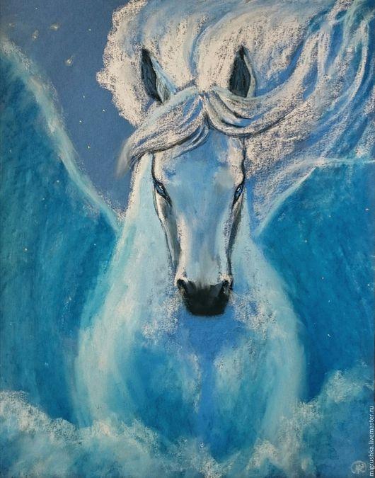 """Животные ручной работы. Ярмарка Мастеров - ручная работа. Купить Картина """"Посейдон"""". Handmade. Синий, посейдон, океан, мифология, фантазия"""