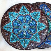 Посуда ручной работы. Ярмарка Мастеров - ручная работа Декоративные тарелки с имитацией металла (2 штуки). Handmade.