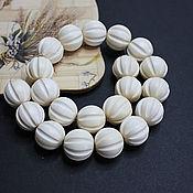 handmade. Livemaster - original item Beads White wood Panganiban 20mm. Handmade.