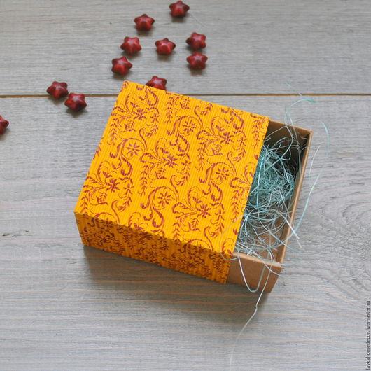 Коробка пенал гофре 7,5х7,5х4см, 2643