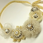Украшения handmade. Livemaster - original item Lemon Lace Sketch. Necklace. Handmade.