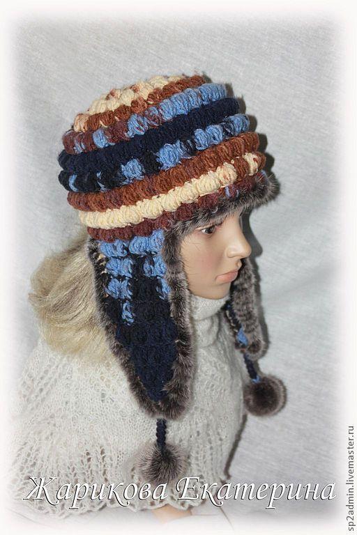 """Шапки ручной работы. Ярмарка Мастеров - ручная работа. Купить шапка ушанка """"Тайга"""". Handmade. Вязаный, женщине, шапка ушанка"""