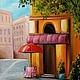 Город ручной работы. Ярмарка Мастеров - ручная работа. Купить Картина маслом Городок. Handmade. Картина, картина в гостиную