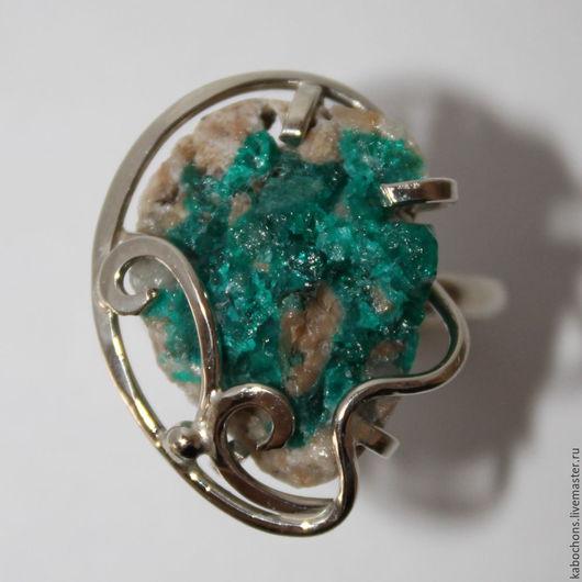 """Кольца ручной работы. Ярмарка Мастеров - ручная работа. Купить Кольцо """"Медный изумруд"""" Диоптаз. Handmade. Зеленый, натуральные камни"""