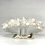 Украшения handmade. Livemaster - original item Majorcan pearl and glass band. Handmade.