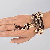"""Украшения ручной работы. Ярмарка Мастеров - ручная работа Слейв браслет Восточный сад Slave Bracelet """"Oriental Garden"""". Handmade."""