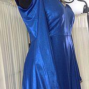 Одежда ручной работы. Ярмарка Мастеров - ручная работа Вечернее платье Синий кристалл. Handmade.