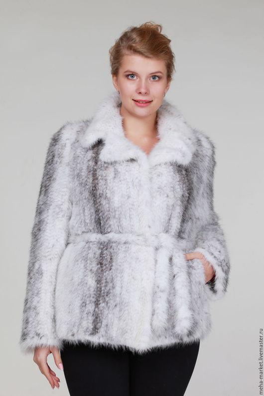 Куртка из вязаной норки `Евро-Мода` крестовка