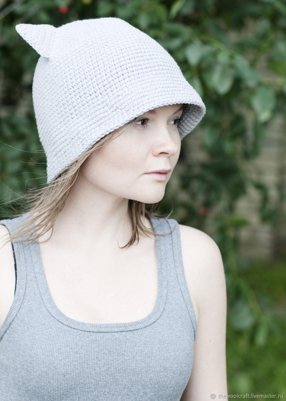 Легкая хлопковая шляпа Серый Котик, Шляпы, Москва, Фото №1