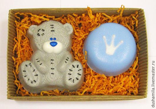 Мыло ручной работы. Ярмарка Мастеров - ручная работа. Купить Набор мыла детский. Handmade. Голубой, мыло мишка