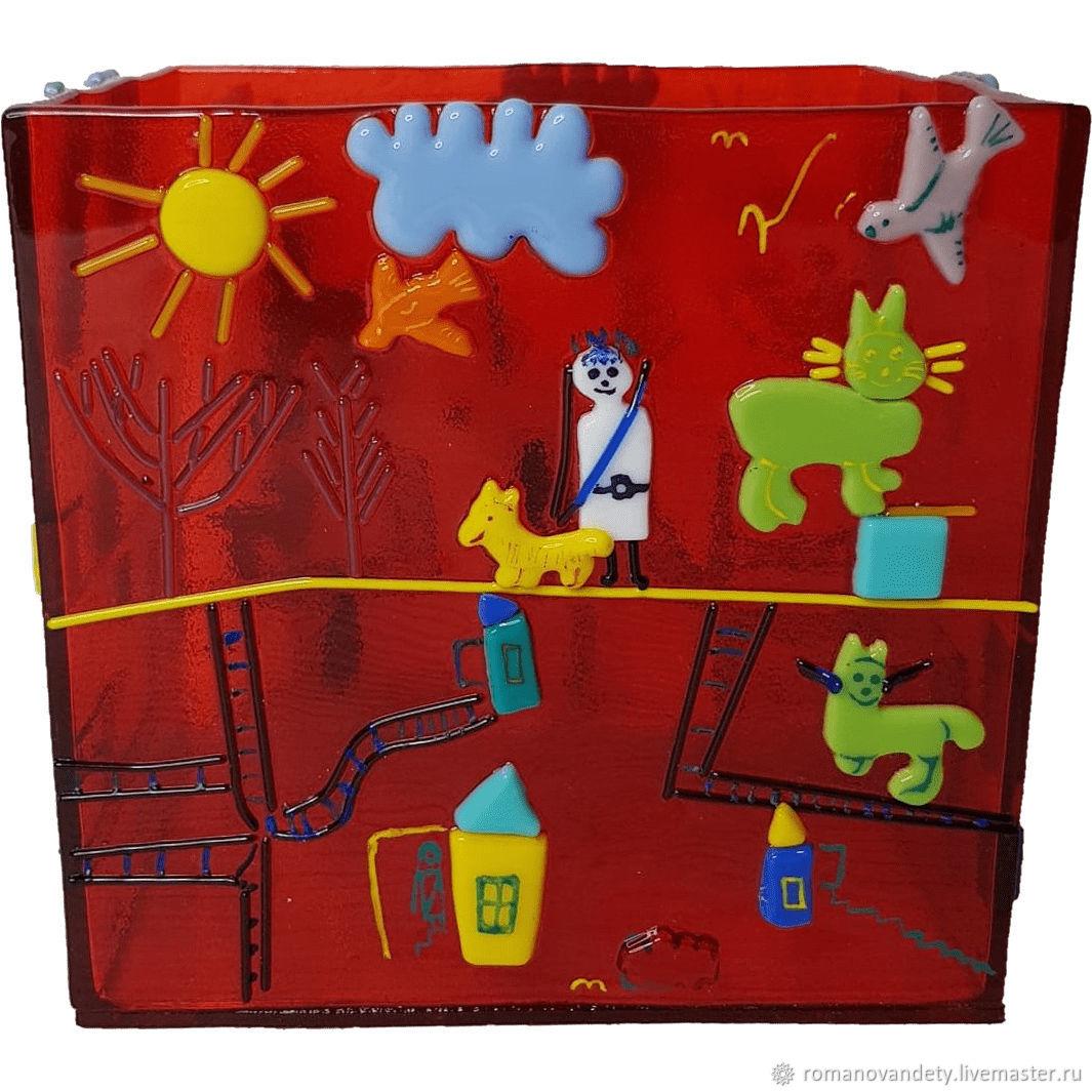Декоративная ваза с детским рисунком, Графины, Москва,  Фото №1