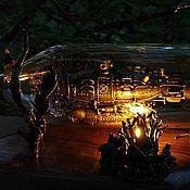 Для дома и интерьера ручной работы. Ярмарка Мастеров - ручная работа Подводная лодка в бутылке. Handmade.