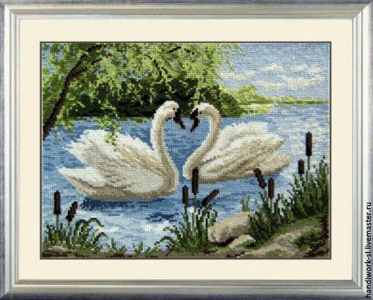 Два лебедя  набор для вышивания крестиком  Овен 446