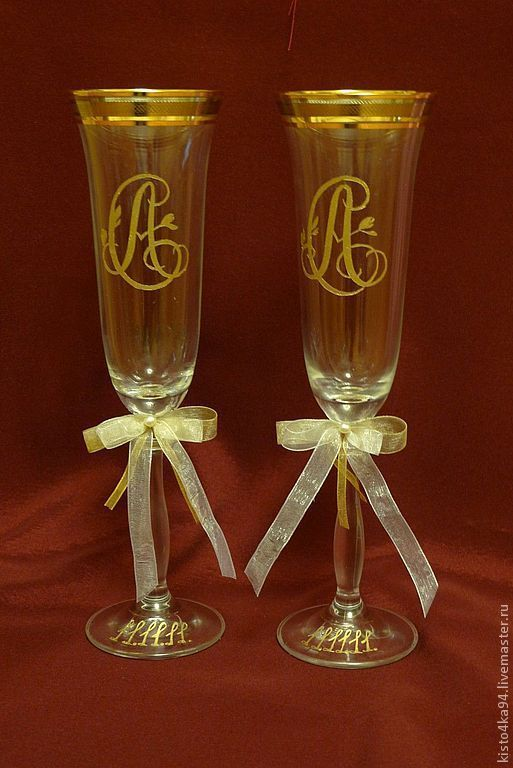 Wedding Goblets | Wedding Glasses Hand Painted Shop Online On Livemaster With