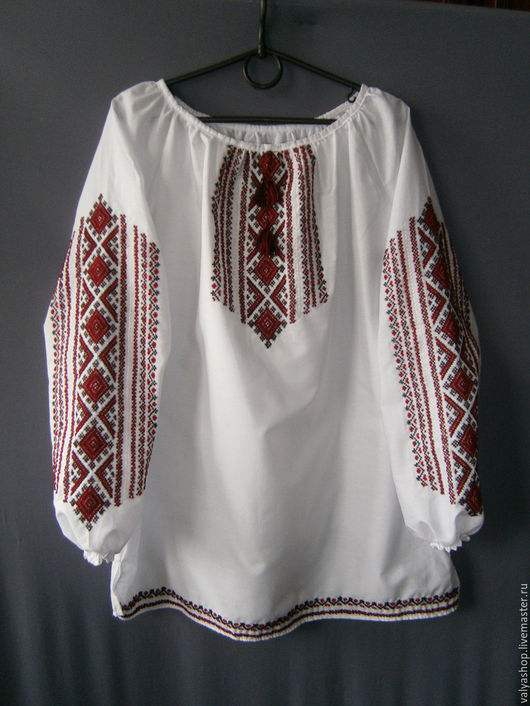 Блузки ручной работы. Ярмарка Мастеров - ручная работа. Купить Блуза-вышиванка белая с поплина Гуцульская. Handmade. Белый
