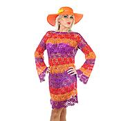 Одежда ручной работы. Ярмарка Мастеров - ручная работа Платье туника вязаная крючком цвета бугенвиллей - хит жаркого сезона. Handmade.