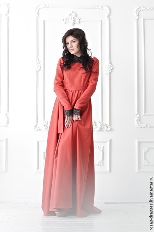 """Платья ручной работы. Ярмарка Мастеров - ручная работа. Купить Платье """"Марго"""". Handmade. Ярко-красный, Платье нарядное, шик"""