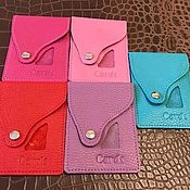 Картхолдер ручной работы. Ярмарка Мастеров - ручная работа Кожаный кошелек для карточек из. Handmade.