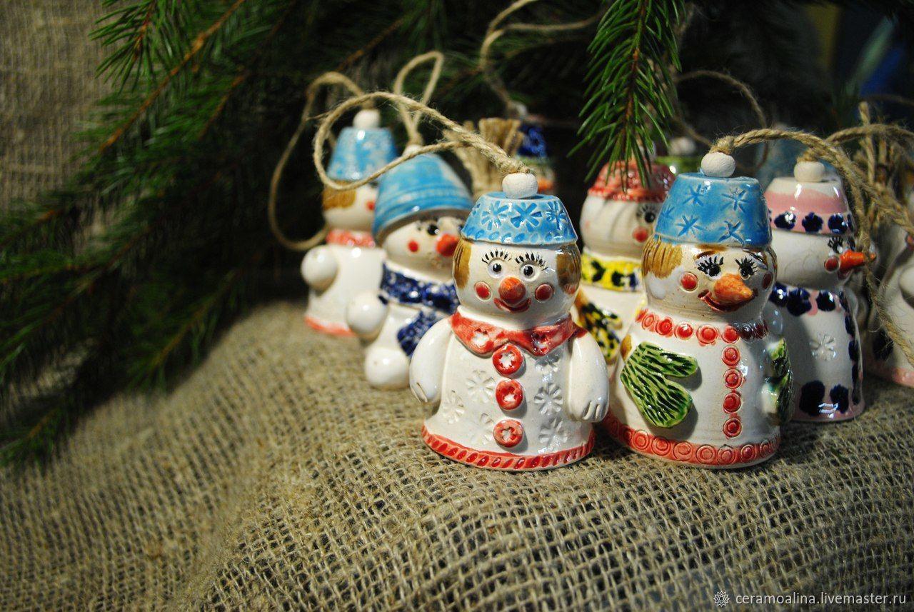 Bell-Christmas toy ' Snowman', Snowmen, Skopin,  Фото №1