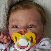 Куклы и игрушки ручной работы. Ярмарка Мастеров - ручная работа Кукла реборн малышка с волосиками (на заказ). Handmade.