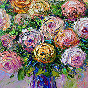 Картины и панно handmade. Livemaster - original item Oil painting of roses