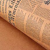 """Материалы для творчества ручной работы. Ярмарка Мастеров - ручная работа Бумага крафт """"Вырезки из газет"""" черный принт. Handmade."""