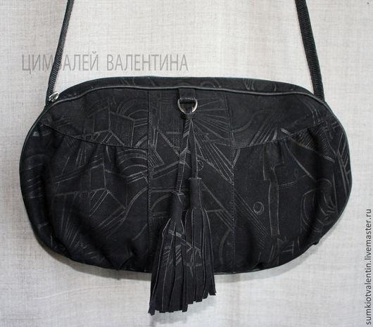 Женские сумки ручной работы. Ярмарка Мастеров - ручная работа. Купить Черная сумка.. Handmade. Черный, сумка через плечо