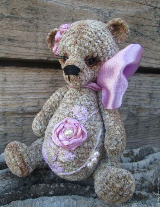 Мишки Тедди ручной работы. Ярмарка Мастеров - ручная работа. Купить Малышка Роззи. Handmade. Игрушка вязаная, серый