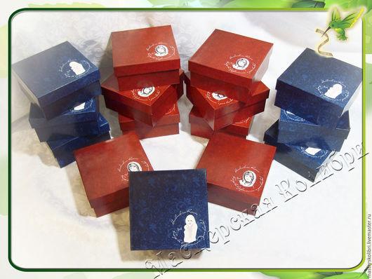 """Упаковка ручной работы. Ярмарка Мастеров - ручная работа. Купить Коробочки для украшений """"Ксения"""".. Handmade. Ярко-красный, коробка для украшений"""