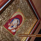 Картины и панно ручной работы. Ярмарка Мастеров - ручная работа Икона Богоматерь Корсунская. Вышитая крестиком.. Handmade.