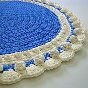 Для дома и интерьера handmade. Livemaster - original item Christmas Mat knitted from cord Snowman. Handmade.