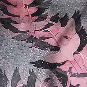 Аксессуары ручной работы. Ярмарка Мастеров - ручная работа Шелковый шарф с ручной росписью (батик) - Фламинго. Handmade.
