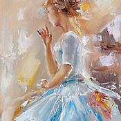 Картины и панно handmade. Livemaster - original item Turquoise ballerina. Handmade.