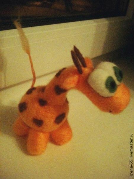 Игрушки животные, ручной работы. Ярмарка Мастеров - ручная работа. Купить Жираф. Handmade. Рыжий, жирафы, подарок, влюбленные