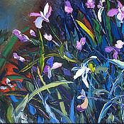 """Картины и панно ручной работы. Ярмарка Мастеров - ручная работа """"Розовые орхидеи"""" 100х70 см большая картина маслом мастихином цветы. Handmade."""
