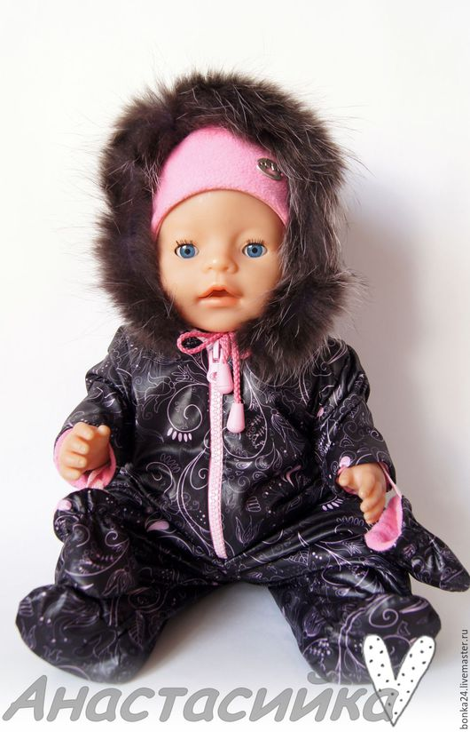 Одежда для кукол ручной работы. Ярмарка Мастеров - ручная работа. Купить Комбинезон для Беби Бон. Handmade. Комбинированный, комбинезон из плащёвки