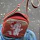 Сумки и аксессуары ручной работы. Молодежная сумка с киской. Ана Краснова. Ярмарка Мастеров. Сумка с кошкой, искуственная лаковая кожа