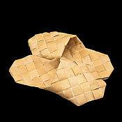 Обувь ручной работы handmade. Livemaster - original item Slippers made of birch bark. Slippers for home. Handmade.